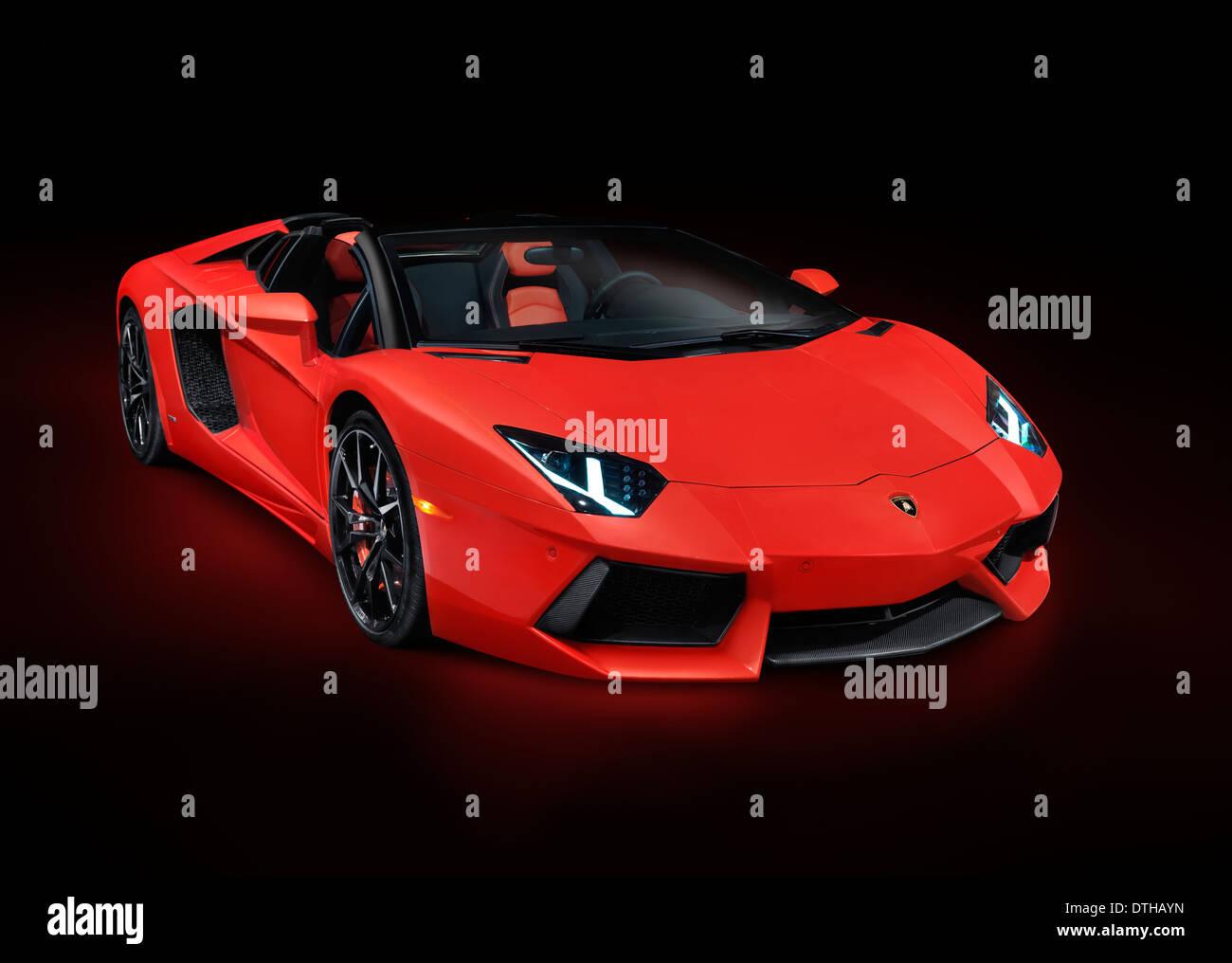 Exotic Cars Wallpaper Pack Red 2014 Lamborghini Aventador Lp 700 4 Roadster Supercar