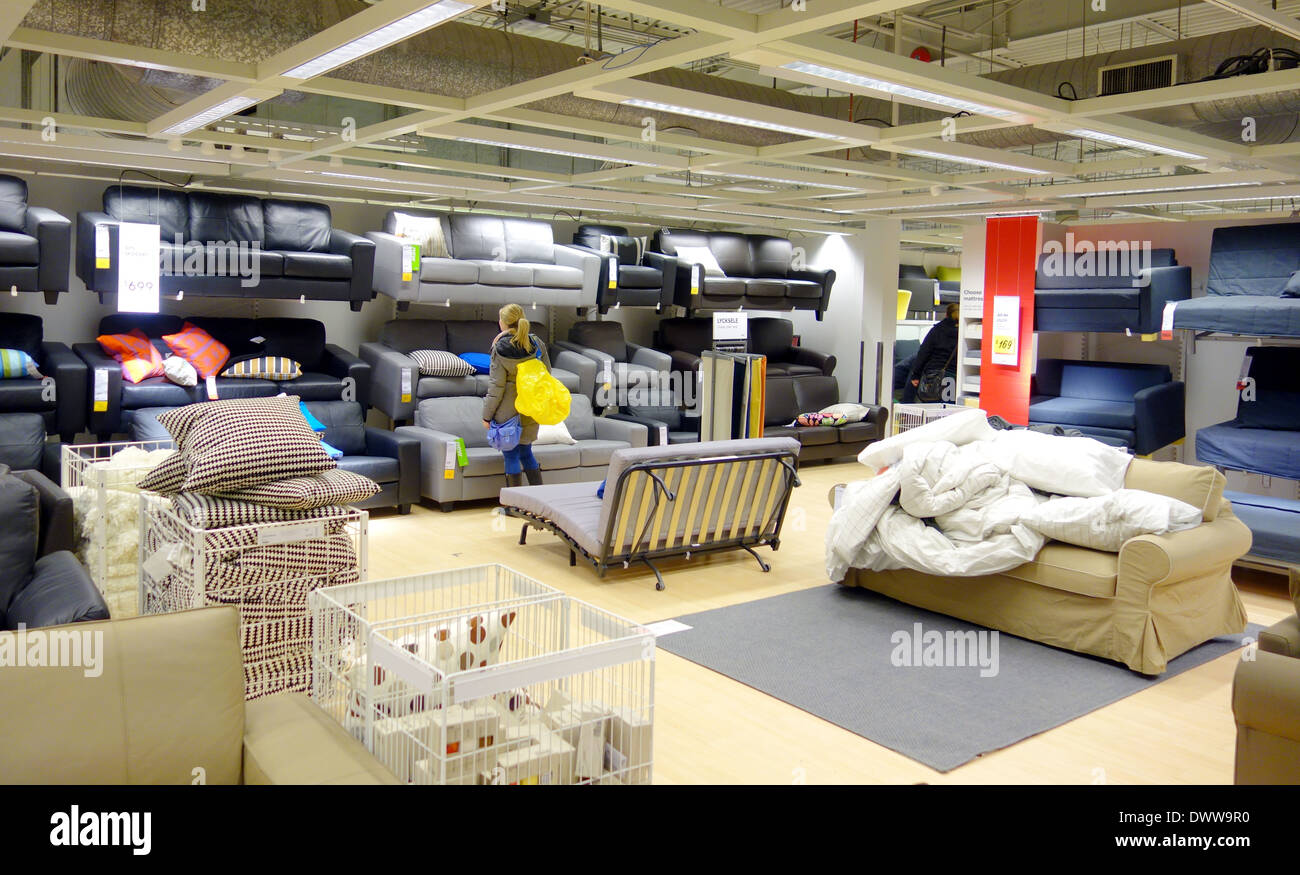 Toronto Furniture Store Furniture Selection At An Ikea Store In Toronto Canada