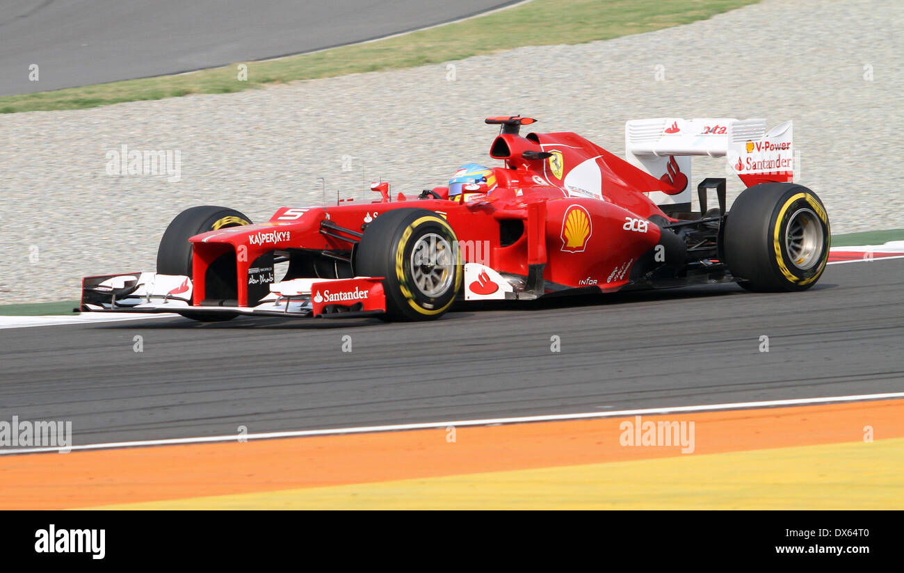 Fernando Alonso F1 Grand Prix Fernando Alonso F1 Formula One Indian Grand Prix At Buddh Stock