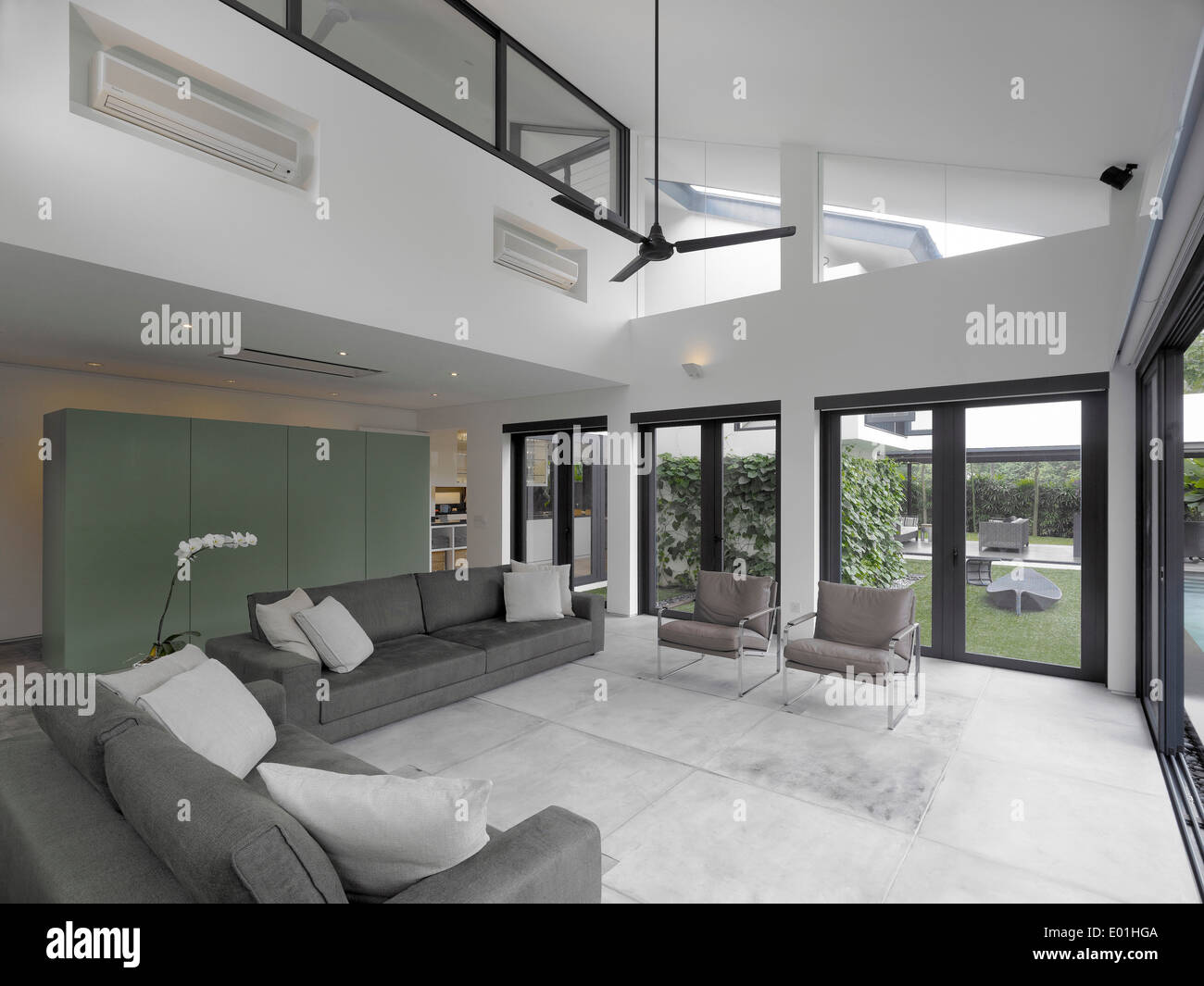 Height Of A House Double Height Living Room In Modern House Swiss Club Road