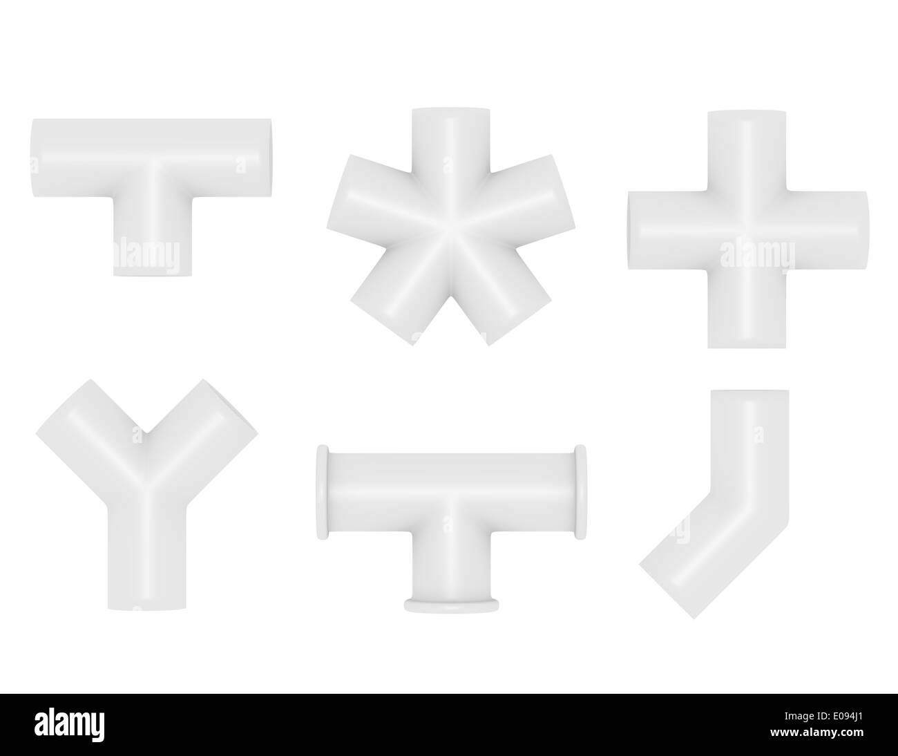 Pvc Joints Pvc Pipe Black And White Stock Photos Images Alamy