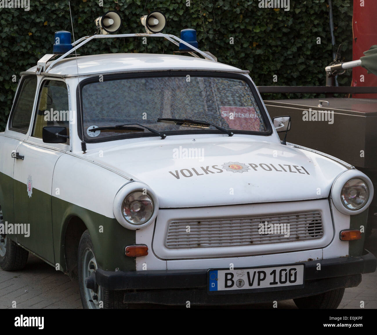Old East German Police Car In Berlin Germany Stock Photo - Berlin Auto