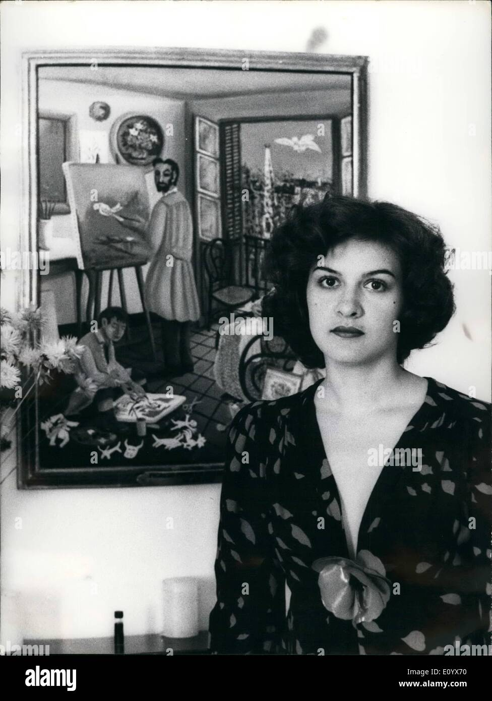 Paloma Picasso Sep 09 1971 Paloma Picasso Daughter Of Picasso Stock Photo