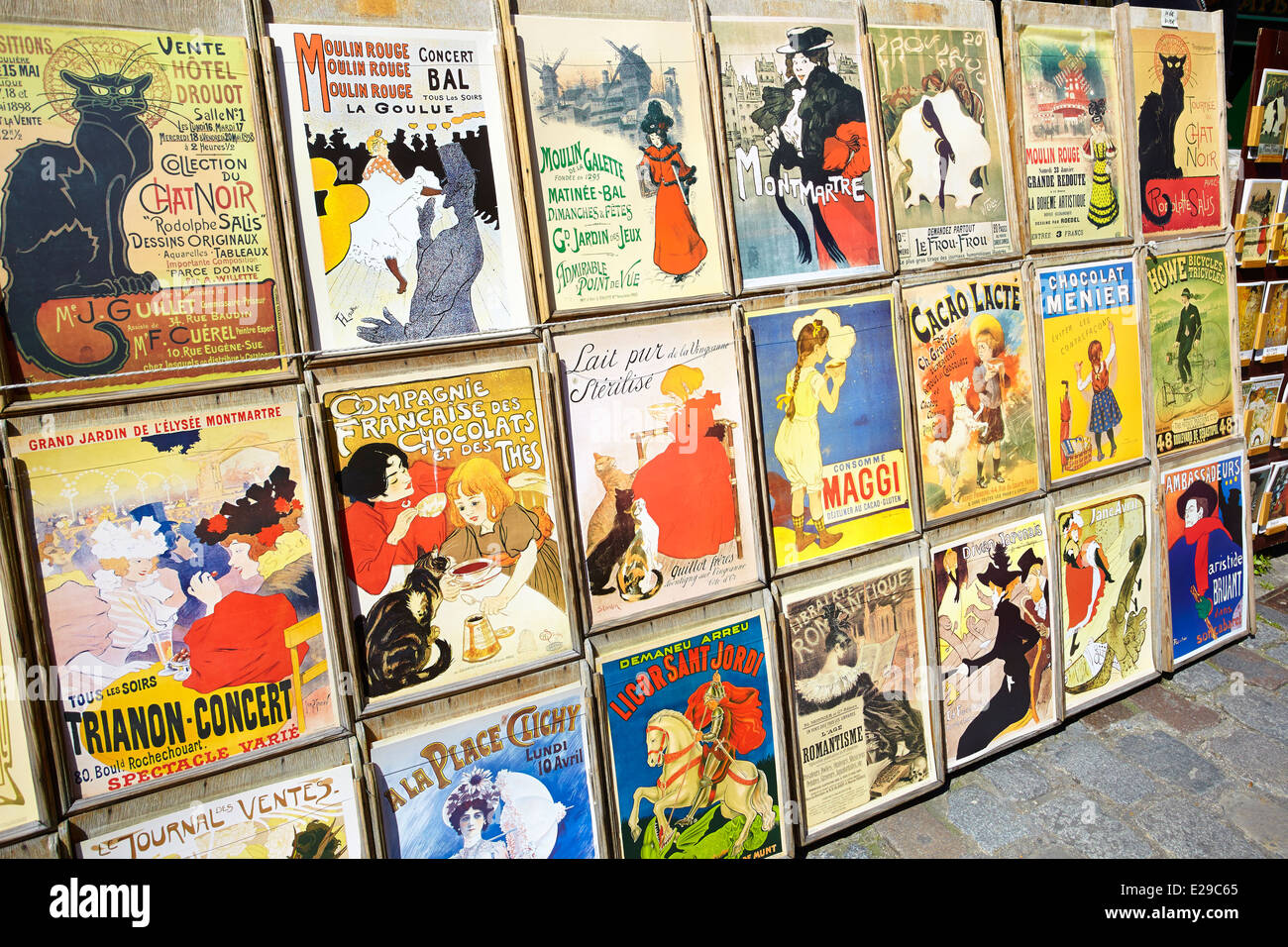 Poster Reproduction Tableau Reproduction Of Old Posters Montmartre District Paris France