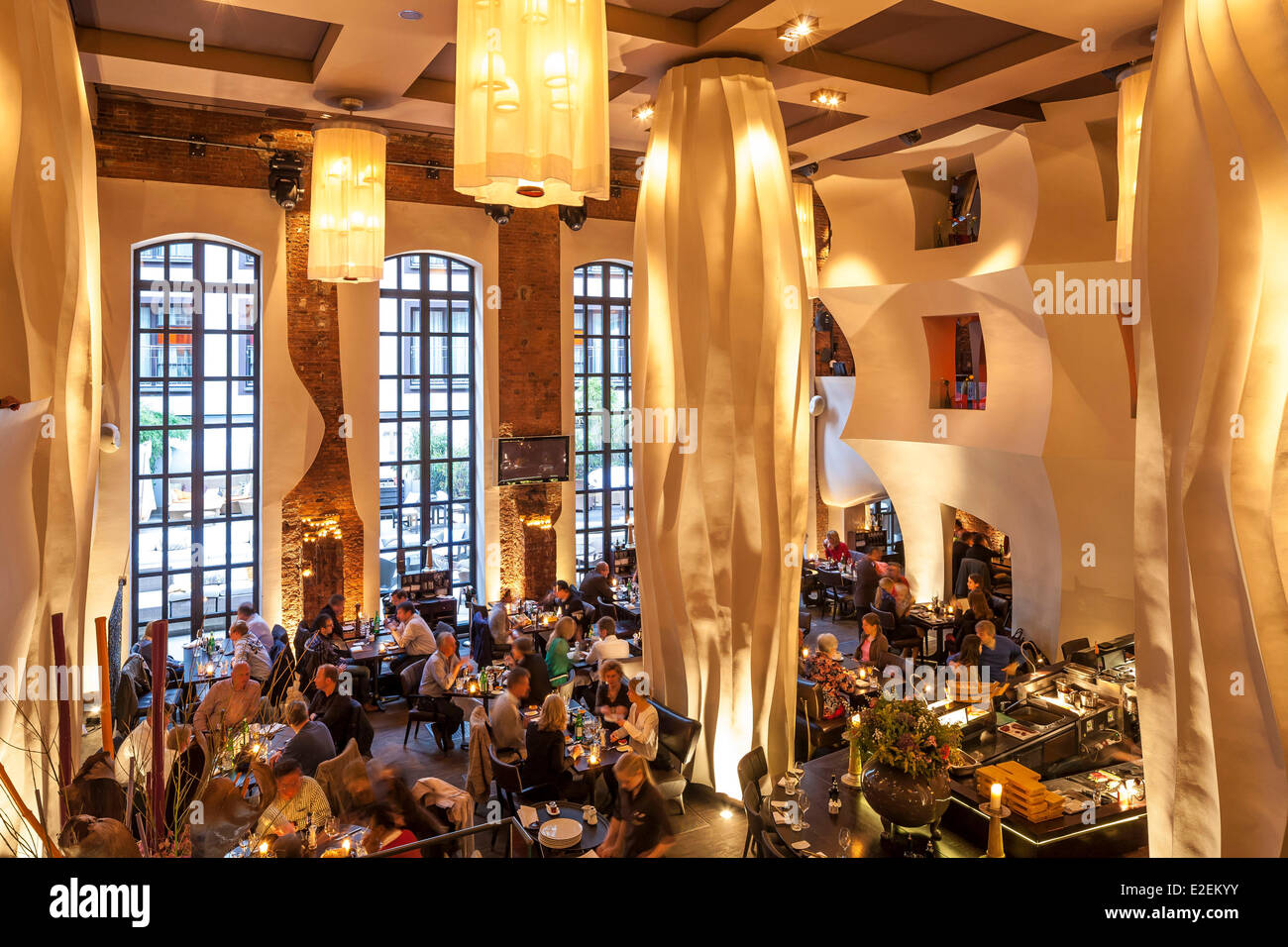 East Hotel Hamburg Germany, Hamburg, St Pauli District, Hotel East By The Architect Stock Photo - Alamy