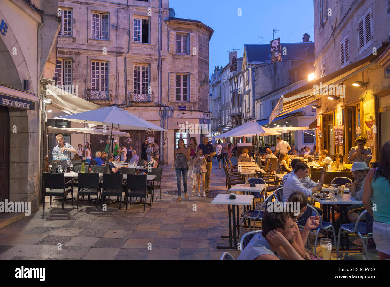 Garden Coffee La Rochelle France Charente Maritime La Rochelle Stock Photo