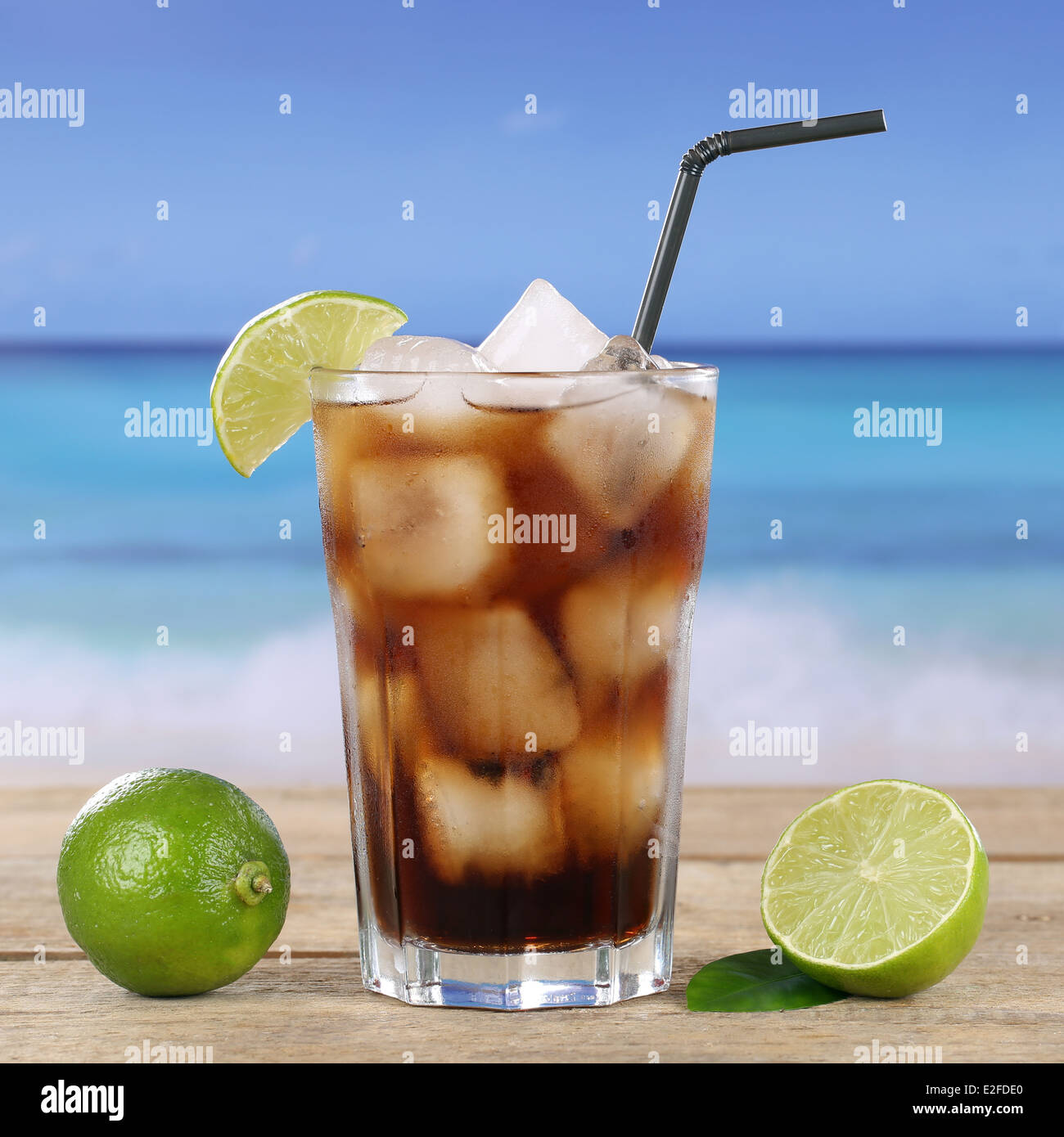 Cuba Libre Drink Cola Cocktail Stock Photos And Cola Cocktail Stock Images
