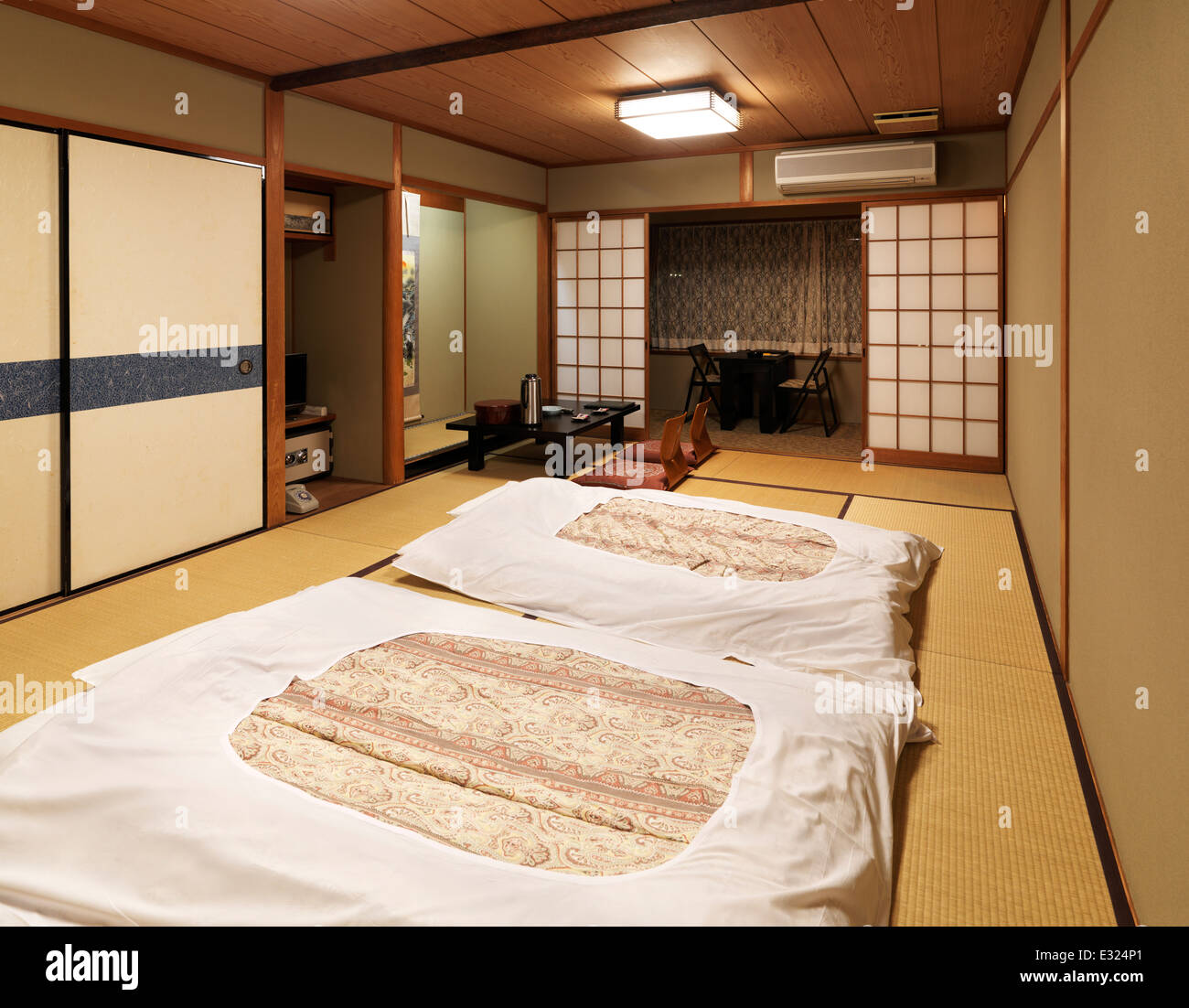 Asian Floor Mattress Traditional Japanese Room At A Ryokan With Futons On The