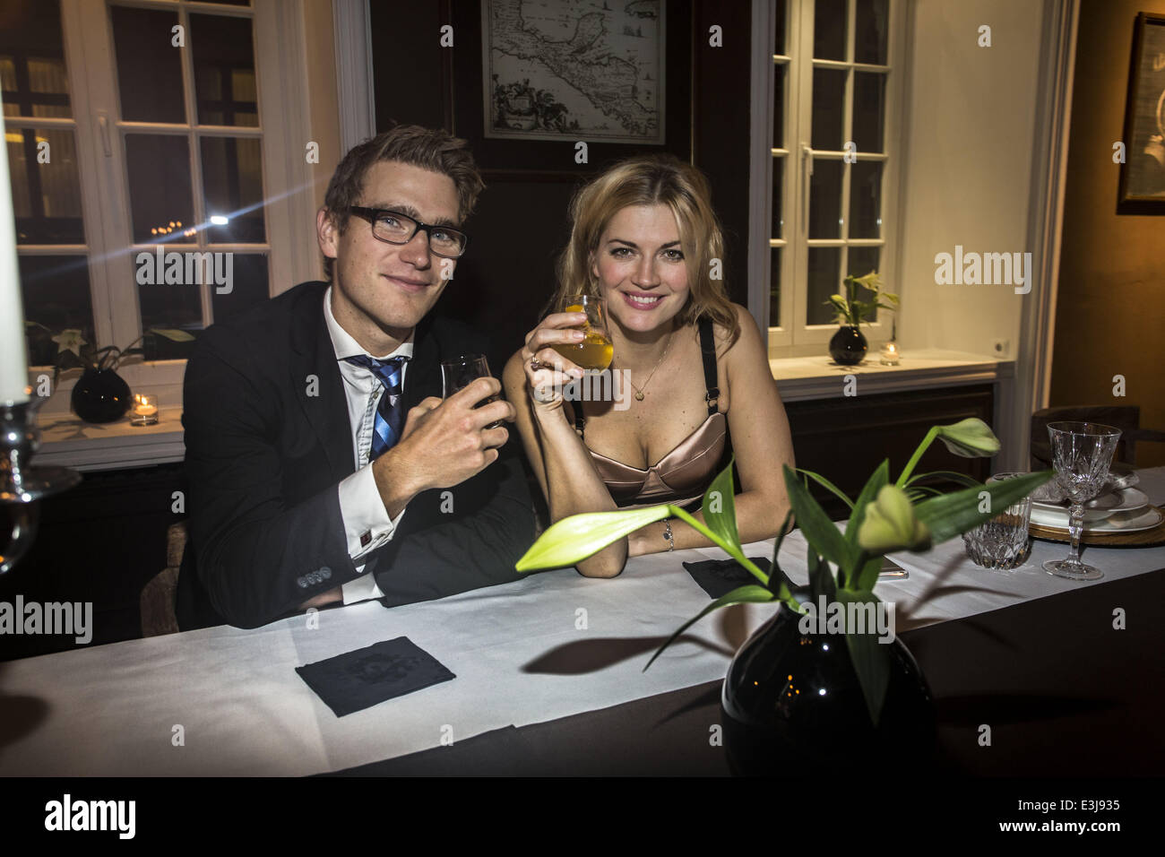 Launch Party Of Zacapa Room Bar At Hohe Bleichen Street Featuring Stock Photo Alamy