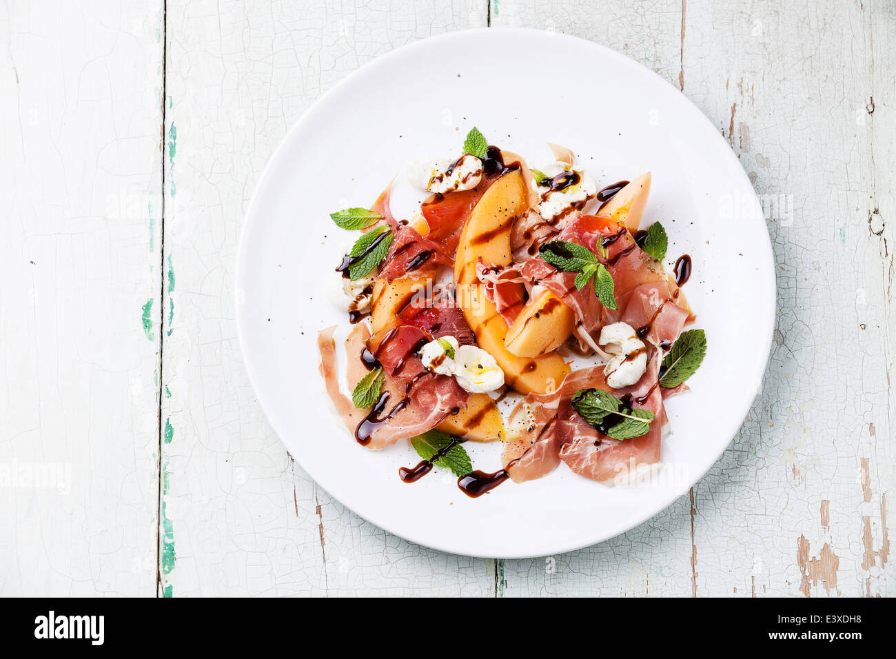 Melonen Mozzarella Salat Prosciutto And Melon And Mint Stock Photos Prosciutto And Melon
