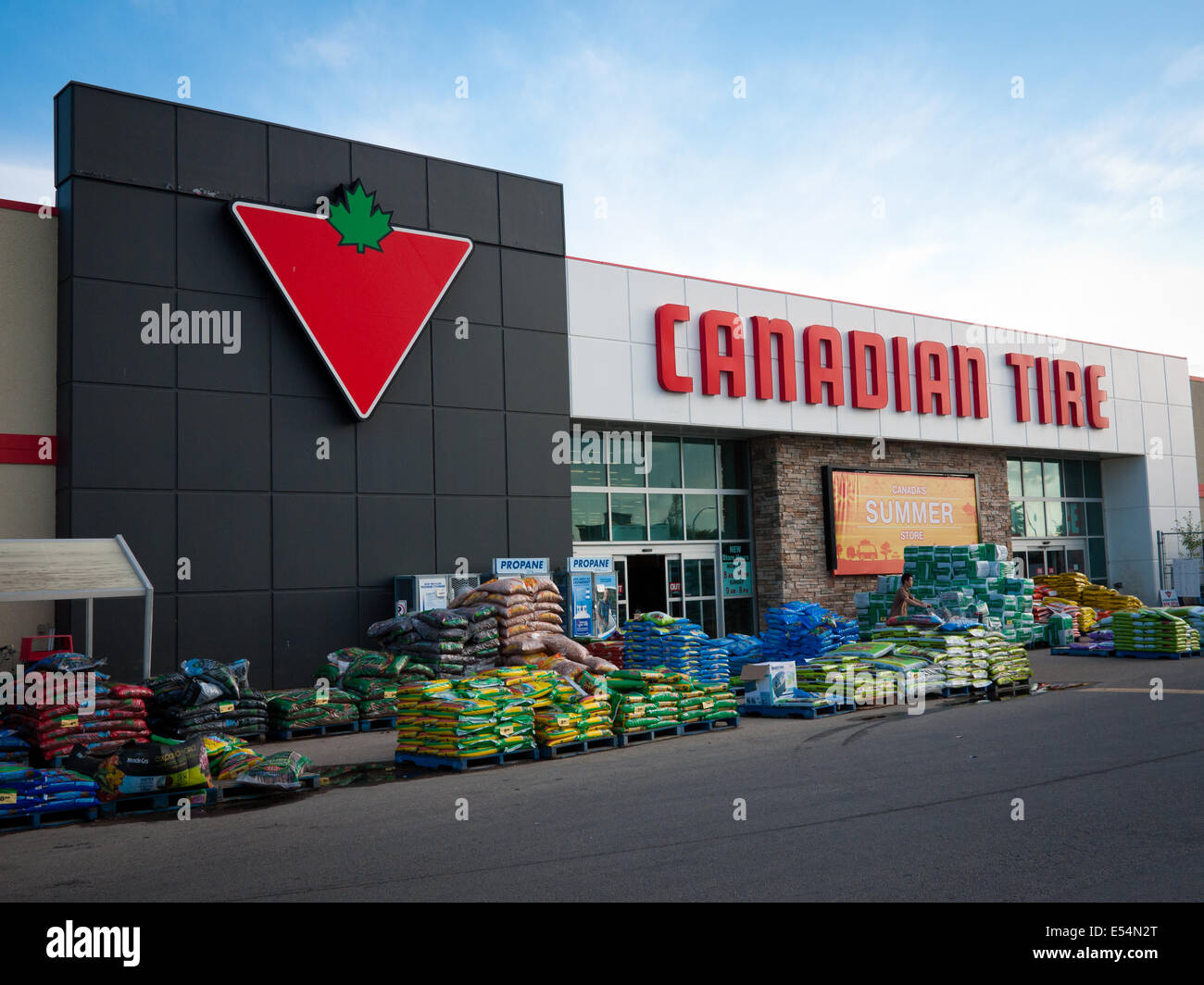 Canadian Stores A Canadian Tire Store And The Canadian Tire Logo Edmonton