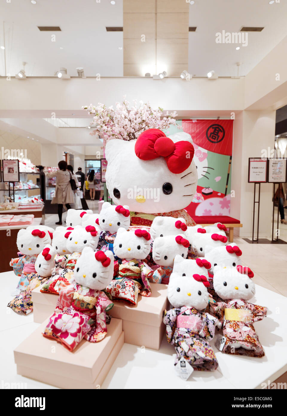 Toy-toys Shop Hello Kitty Toys In A Japanese Department Store Wearing