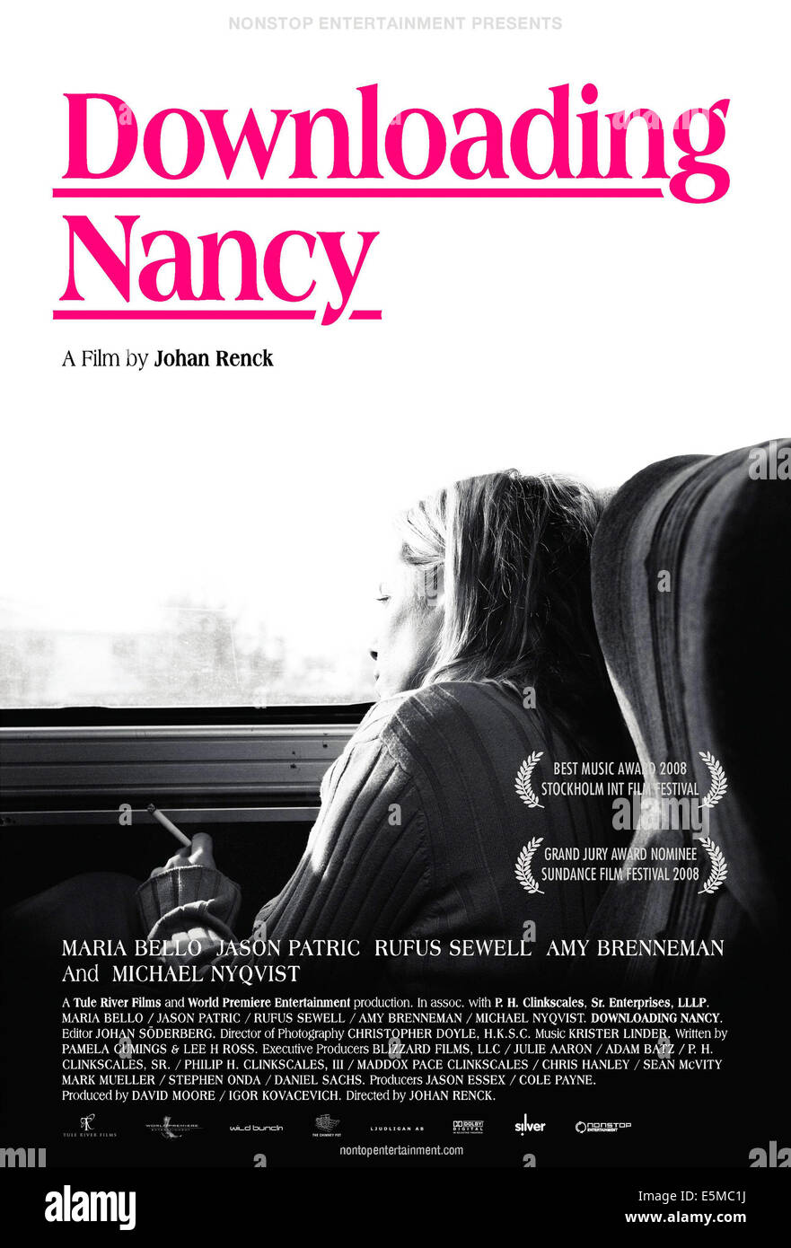 Poster Strand Downloading Nancy Swedish Poster Art Maria Bello 2008 Strand