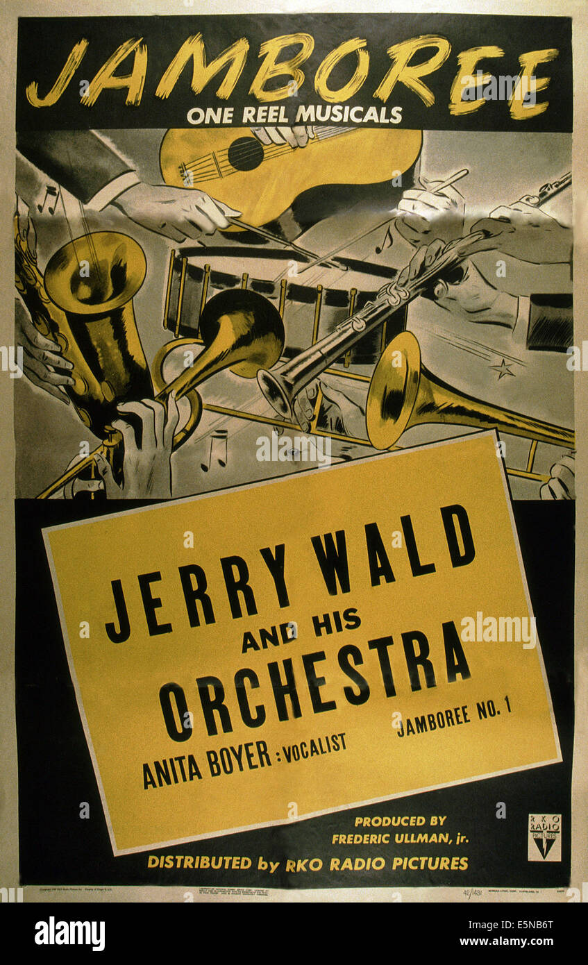 Wandposter Wald Jamboree Jerry Wald And His Orchestra Poster Jamboree No 1