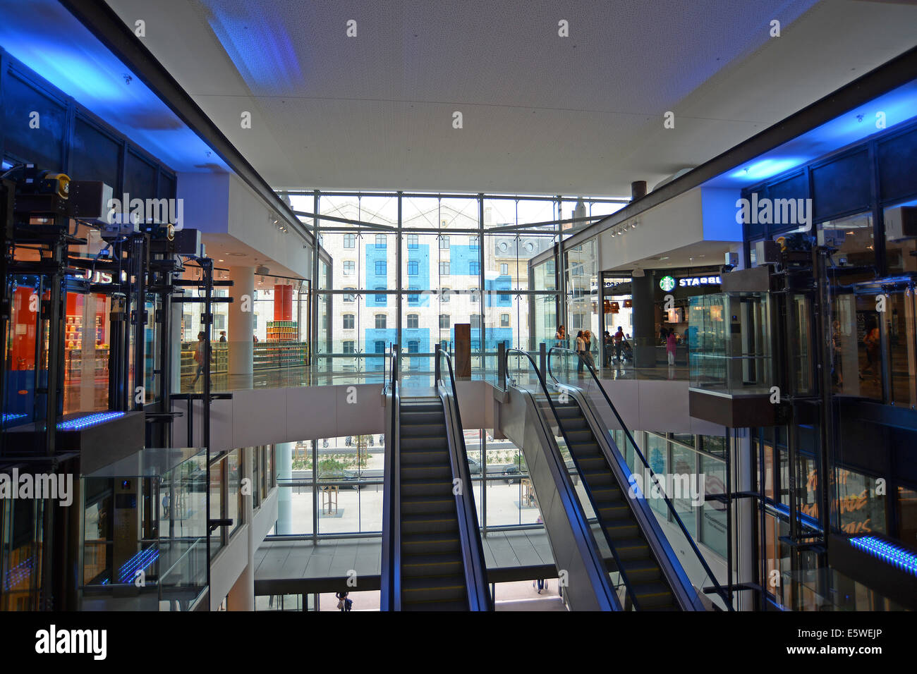 Centre Commercial Terrasse Du Port France Shopping Mall Interior Stock Photos France Shopping Mall
