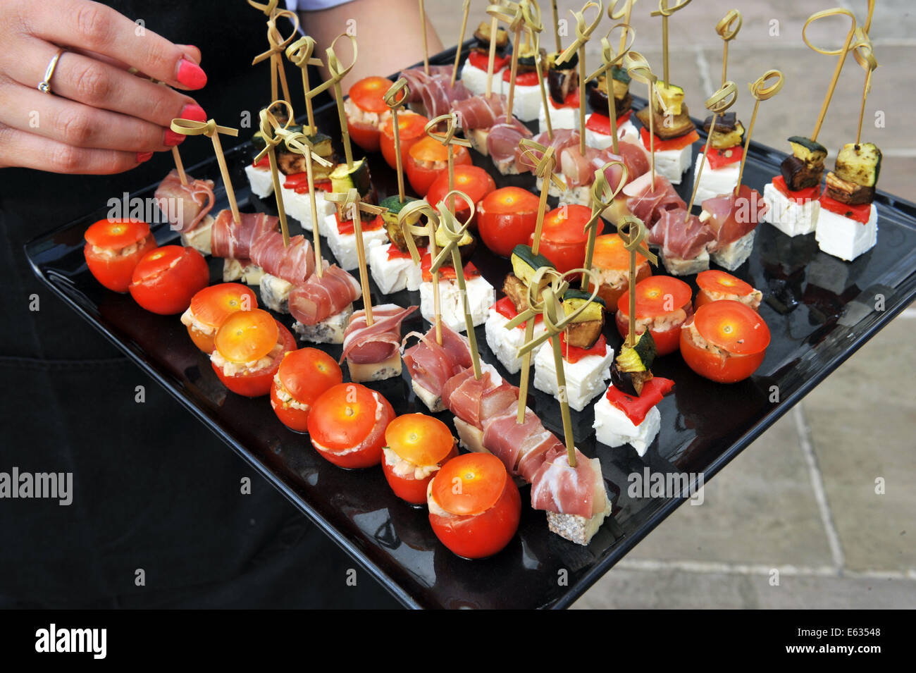 Canapés Show Canape Platter Stock Photos Canape Platter Stock Images Alamy
