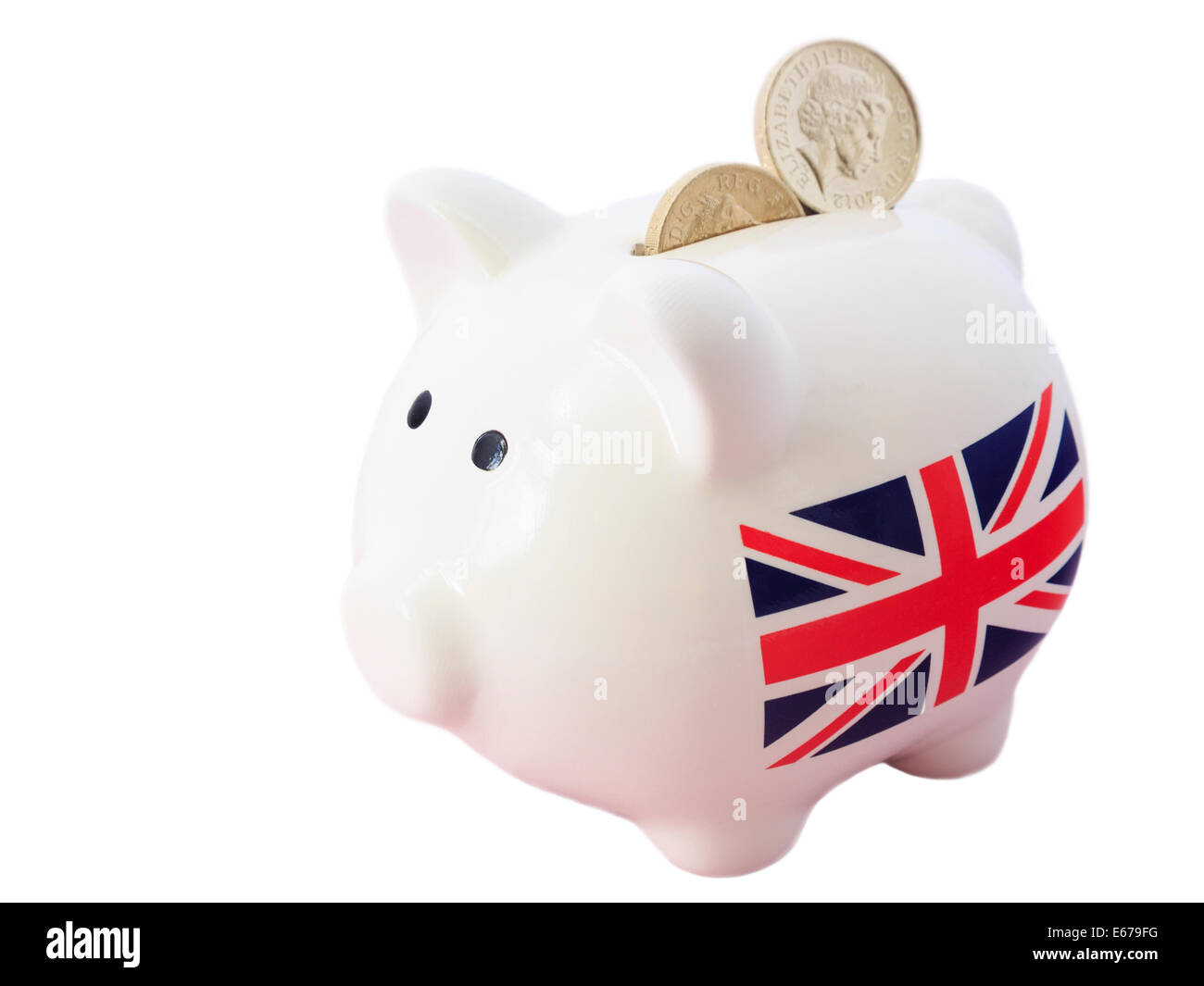 Cool Money Bank Piggy Bank With British Union Jack And Sterling Pound