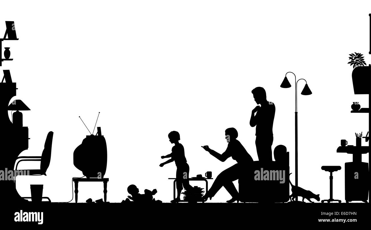 All Black Living Room Black Man Watching Tv Black And White Stock Photos