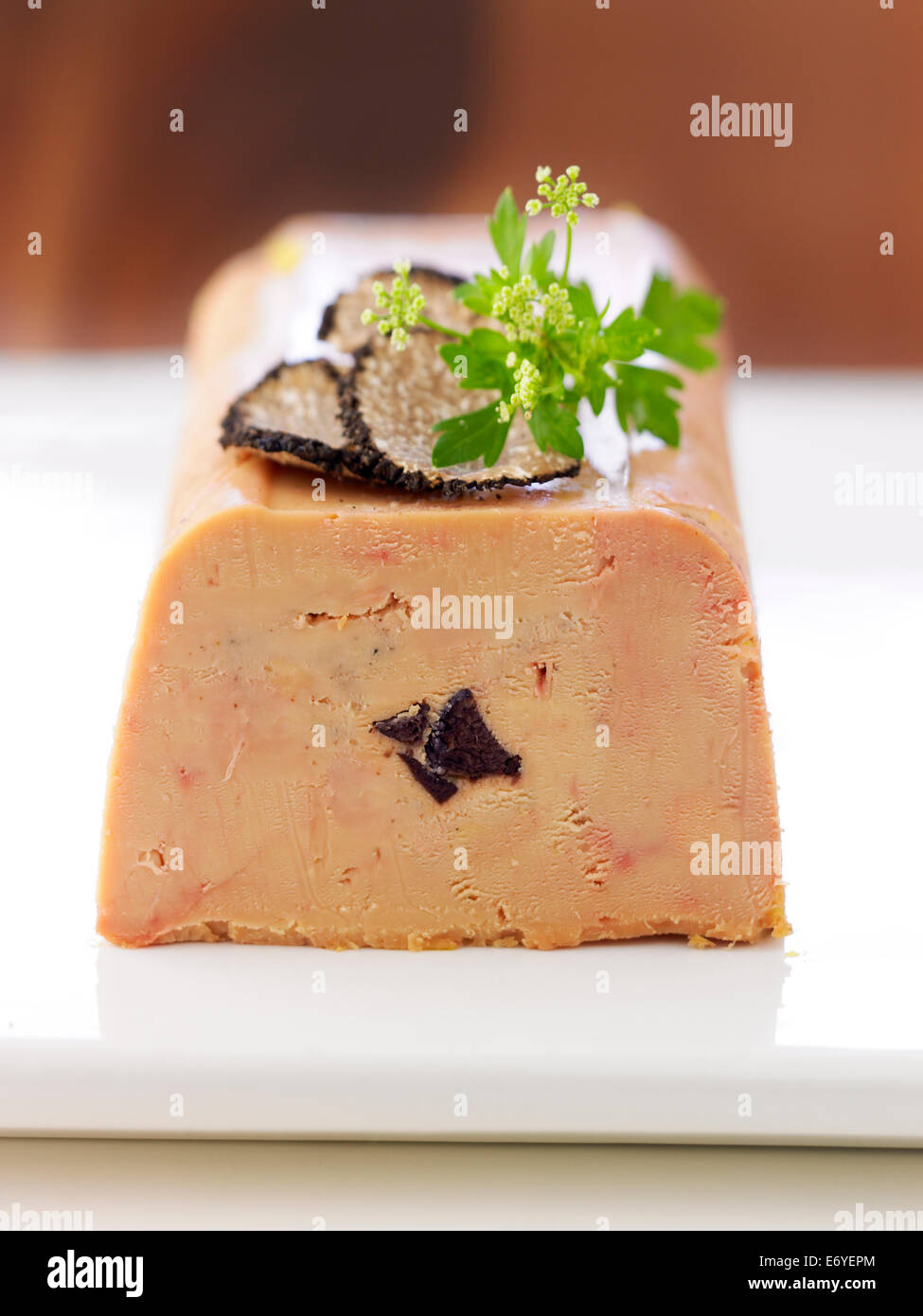 Foie Gras Terrine Foie Gras Terrine With Truffles Stock Photo 73133724 Alamy