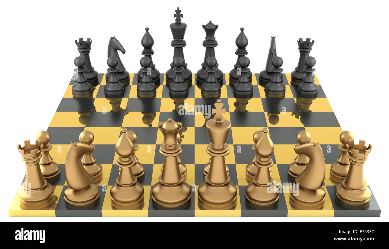 Steel Chess Pieces Chessboard With Metal Chess Pieces Stock Photo 73256608