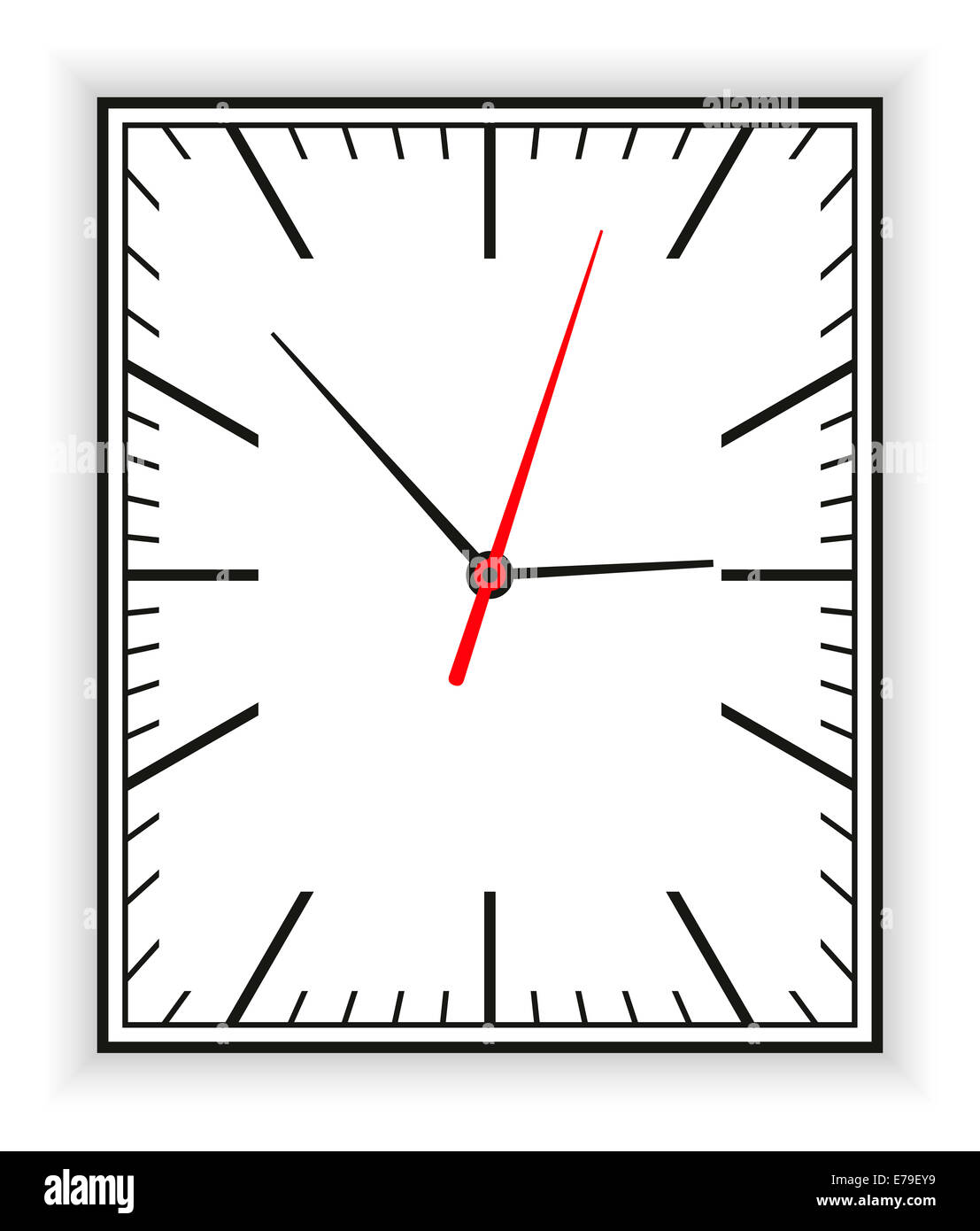 Oval Clock Face Rectangular Clock Face As Part Of An Analog Clock With Black And