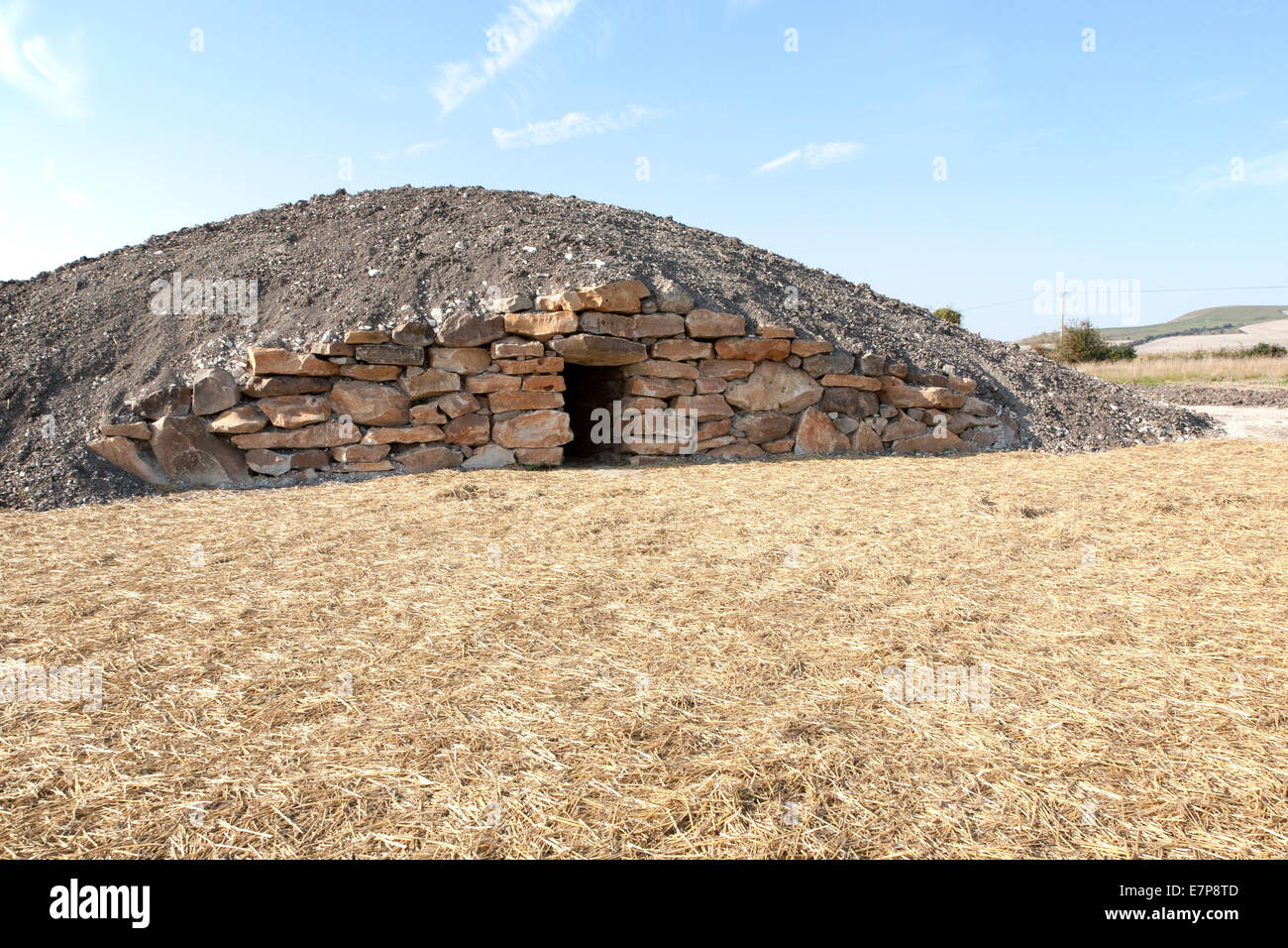 Neolithic Architectural Style Modern Day Neolithic Style Long Barrow Burial Chamber For