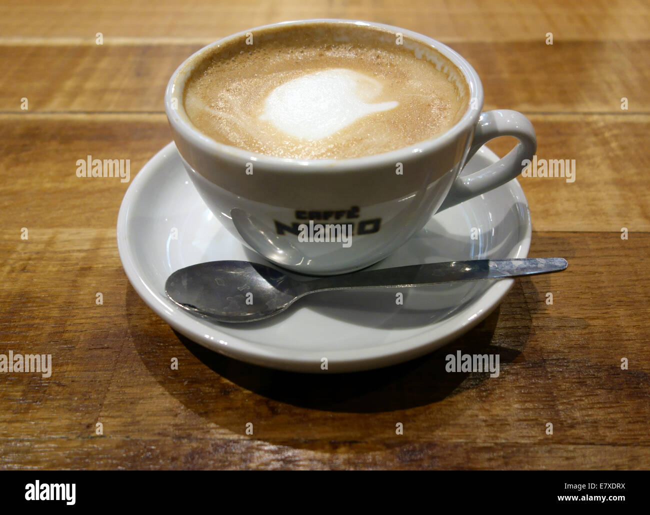 Caffe Latte Cafe Latte In Branch Of Caffe Nero London Stock Photo 73725678