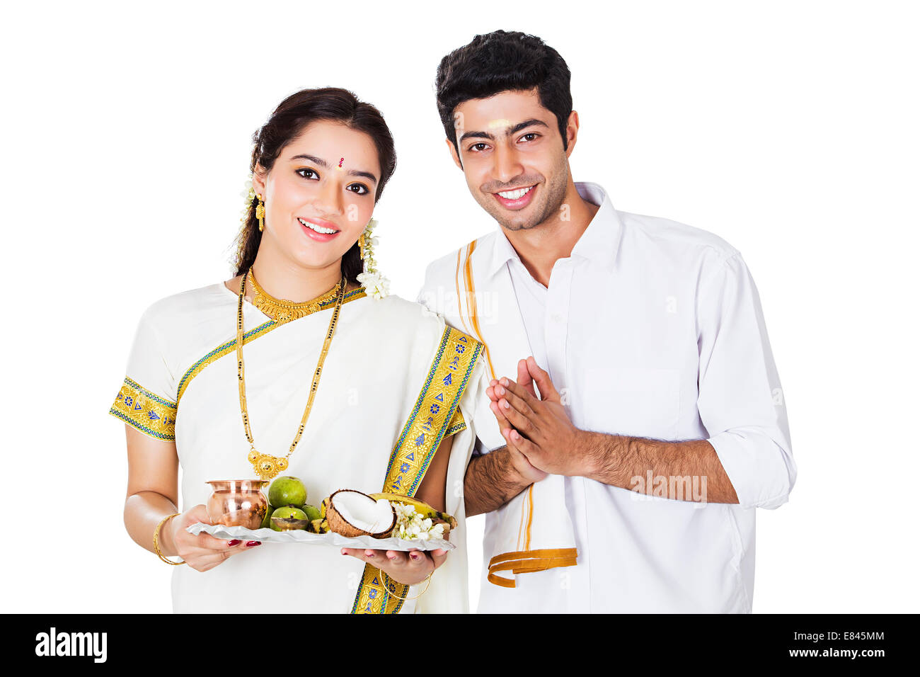 South Indian Couple Welcome Stock Photo 73851028 Alamy