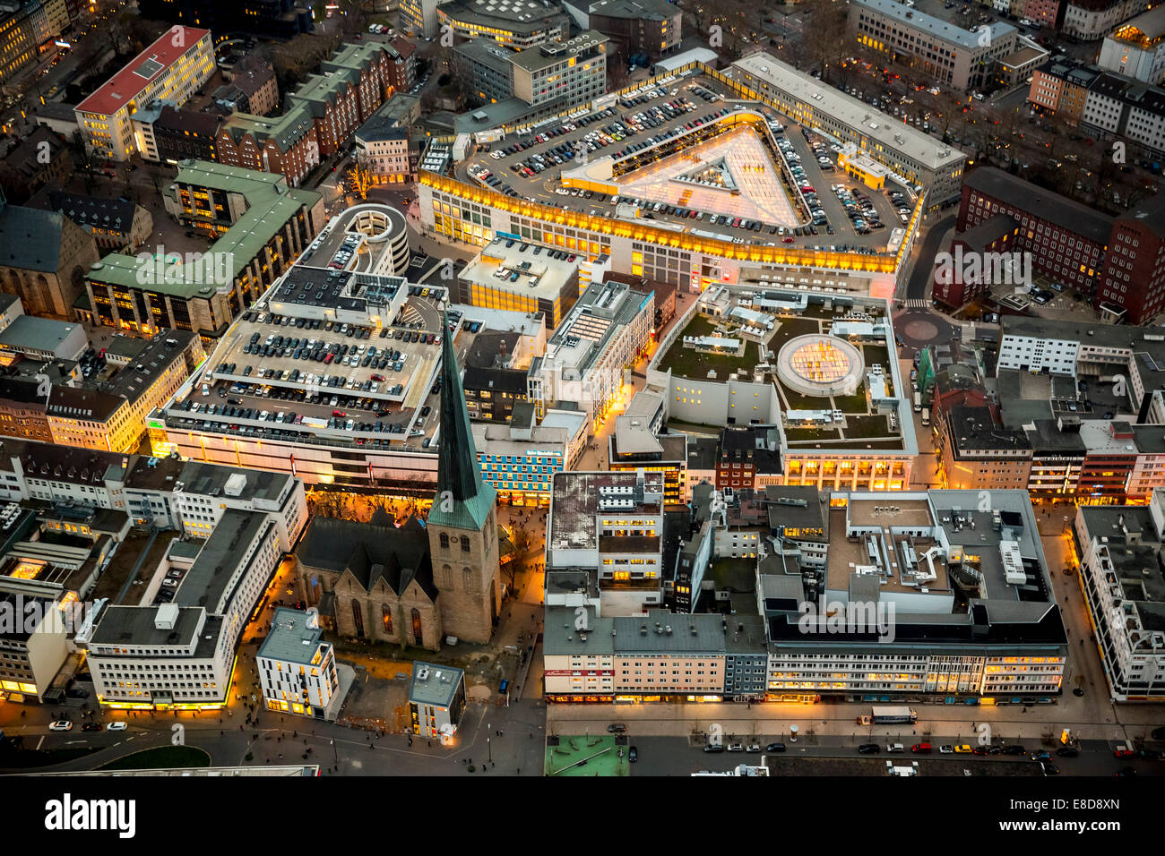 Dortmund Shopping Center Aerial View Thier Galerie Mall Dortmund Stock Photos