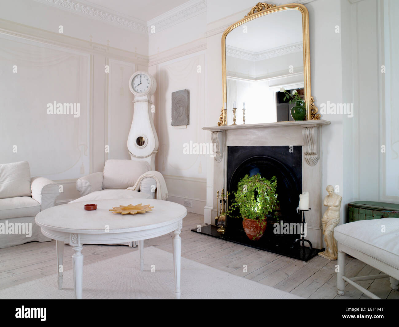 Marble Fireplaces Ideas White Painted Coffee Table In Front Of Marble Fireplace With Large