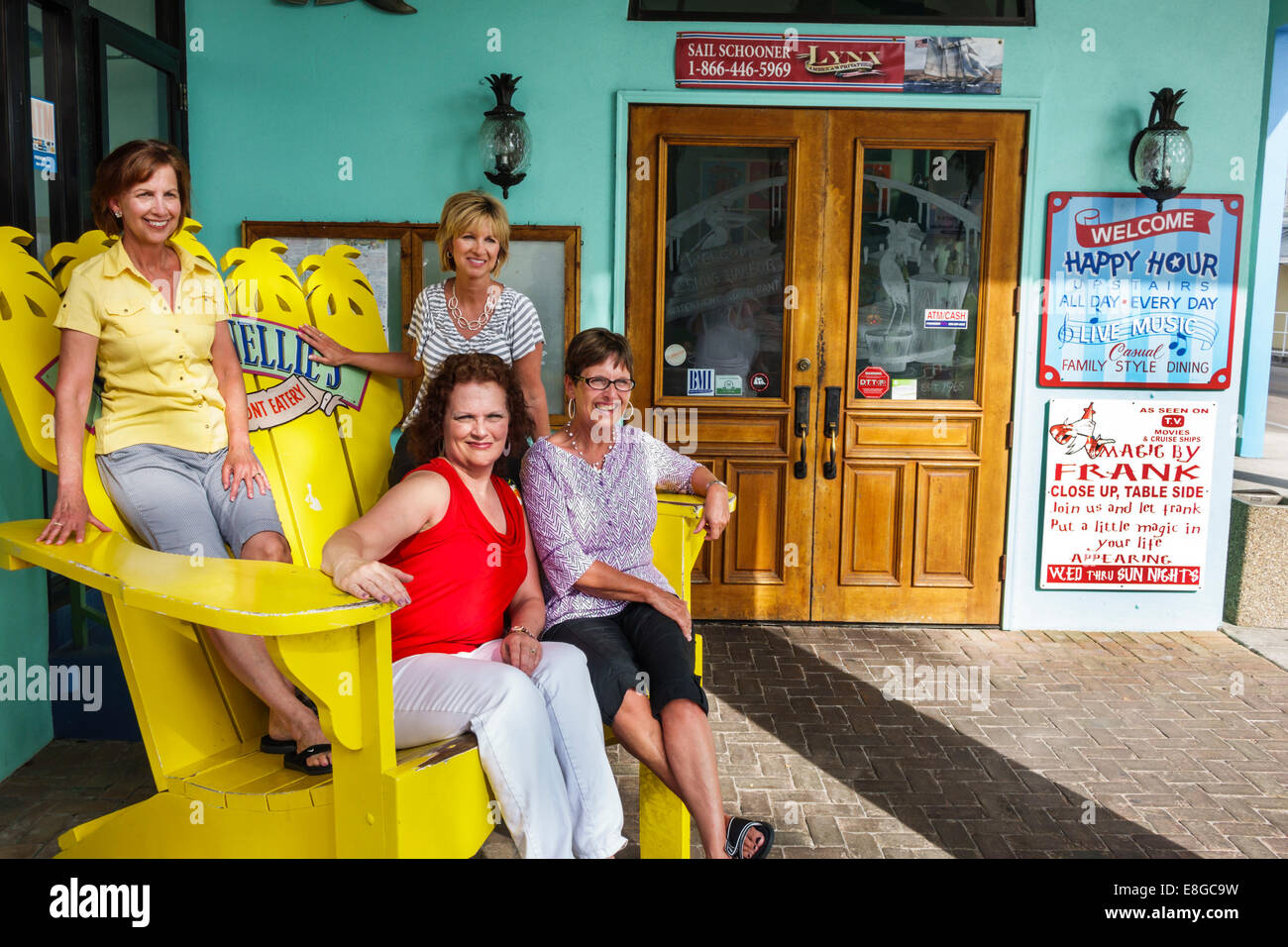 Mexico Beach Giant Chair Cafe Fort Myers Beach Stock Photos & Cafe Fort Myers Beach