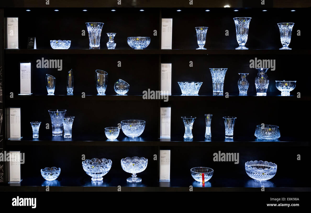 How To Display Bowls Display Of Bowls And Vases In The Showroom At The