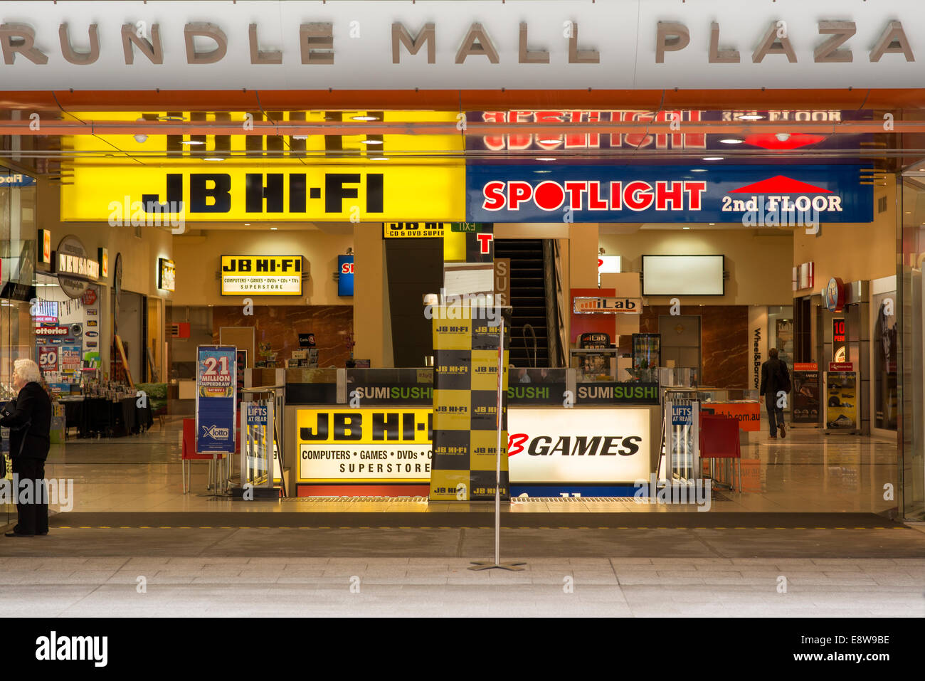 Electronics Store Adelaide Jb Hi Fi Electronics Shop Front And Signage Stock Photo
