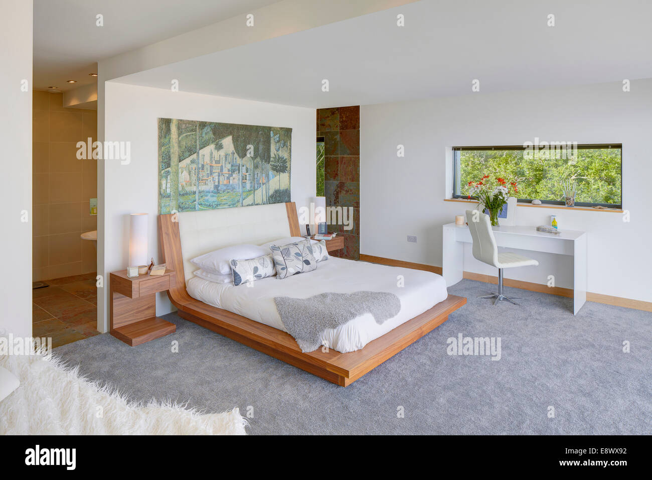 Partitioned Bedroom Modern Bedroom With Ensuite Bathroom Separated By