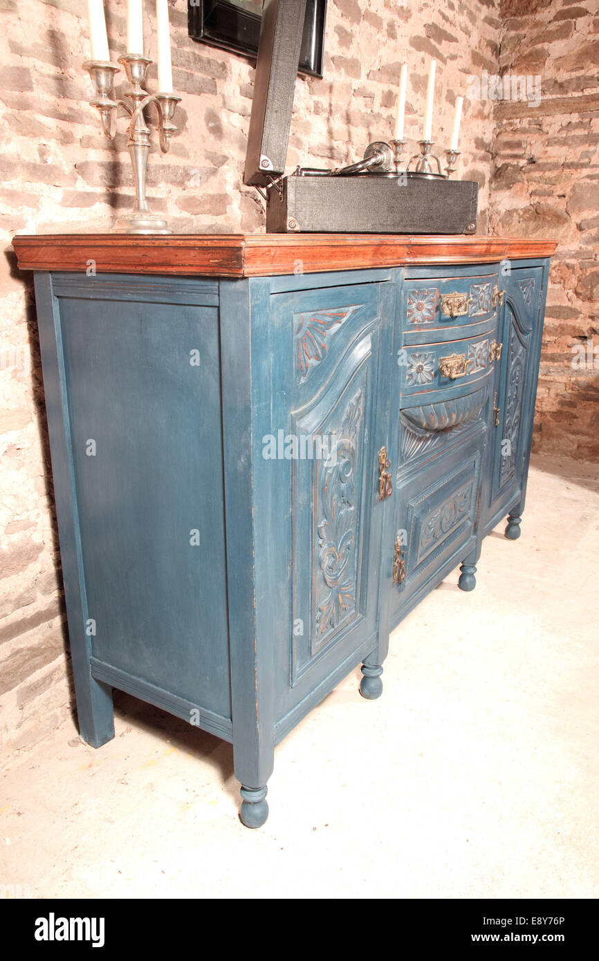 Sideboard Shabby Chic Shabby Chic Art Nouveau Sideboard Blue Stock Photo 74357102 Alamy