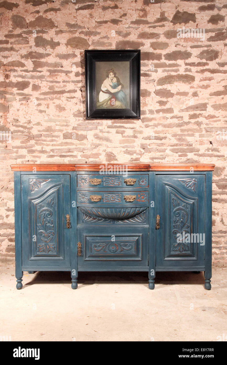 Sideboard Shabby Chic Shabby Chic Art Nouveau Sideboard Blue Stock Photo 74357579 Alamy
