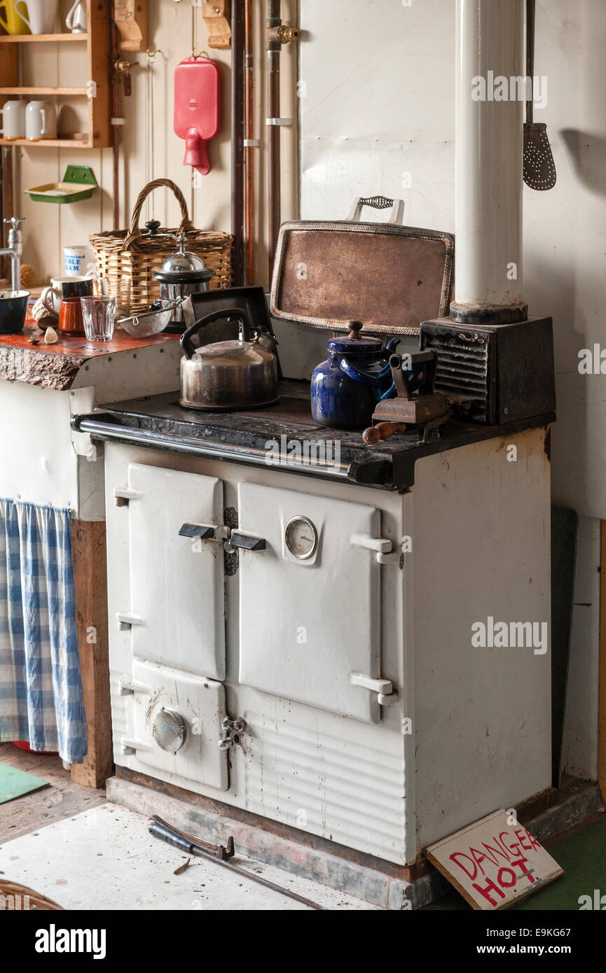 Where To Buy Old Kitchen Cabinets An Old Solid Fuel Rayburn Cooker In An Old Fashioned