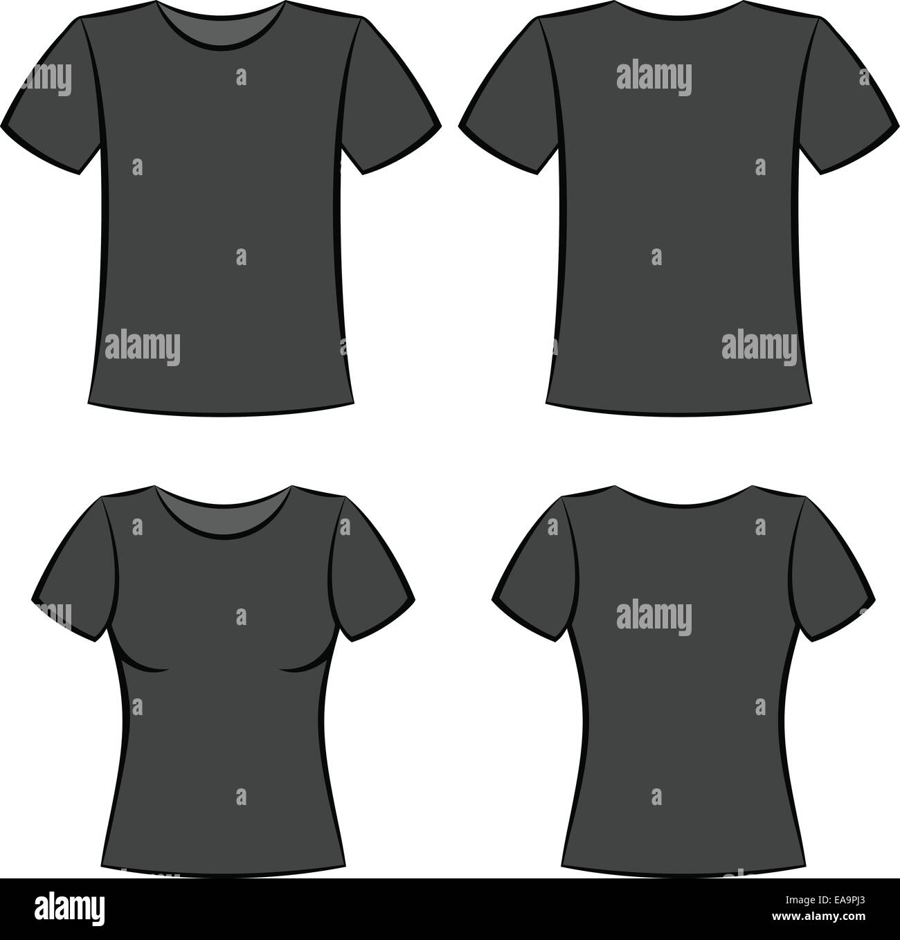 Black t shirt template -  Black T Shirt Clothes Blank Template Vector Illustration Download