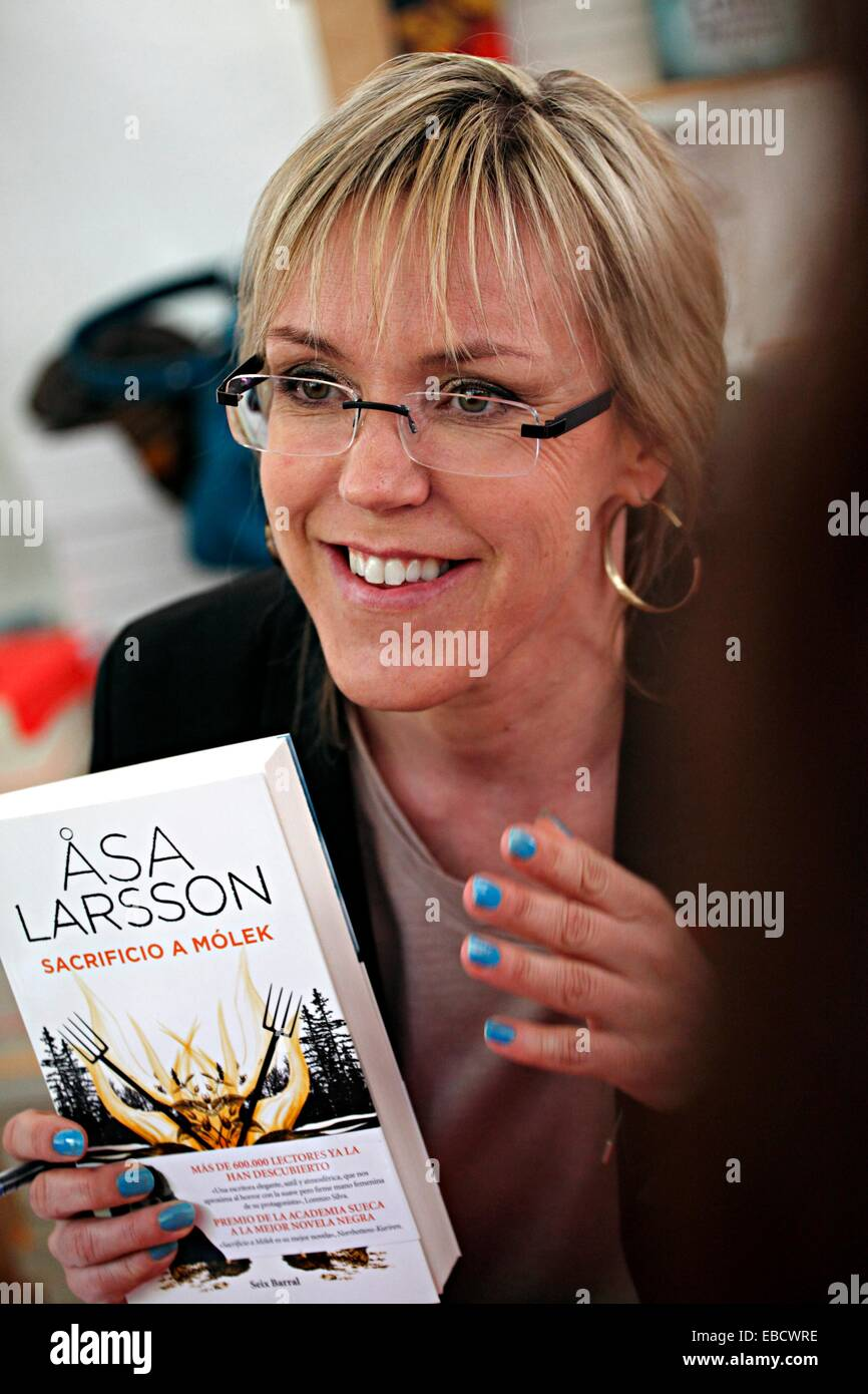 Asa Larsson Libros The Writer Asa Larsson The Day Of Sant Jordi World Book Day In