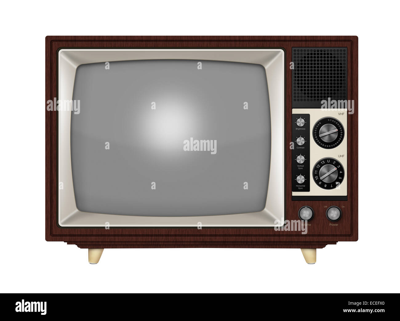 Frequency Tv Old Style Retro Tube Tv With Frequency Knobs And Wooden Style