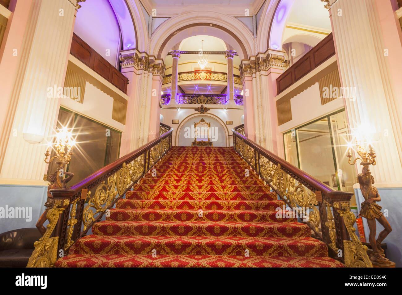 England, Yorkshire, Scarborough, The Grand Hotel, Interior