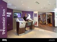 Maidstone Premier Inn Hotel lobby with receptionist ...