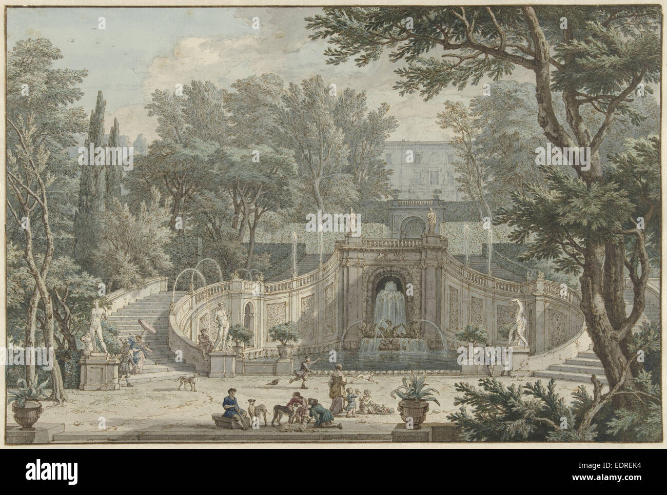 Tivoli Museum Rome View Of The Garden Of Villa D 39este In Tivoli Rome Italy