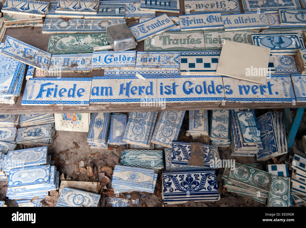 Fliesenausstellung Berlin Berlin Germany Lettered Tiles Stock Photo 77739559 Alamy