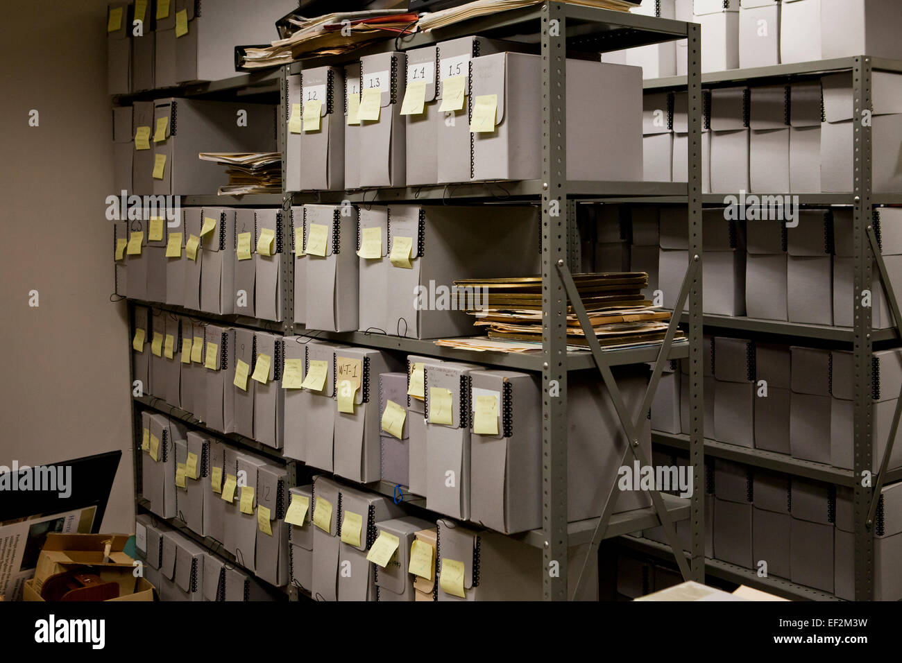 Storage Room File Storage Containers Stacked In Office File Room Usa Stock