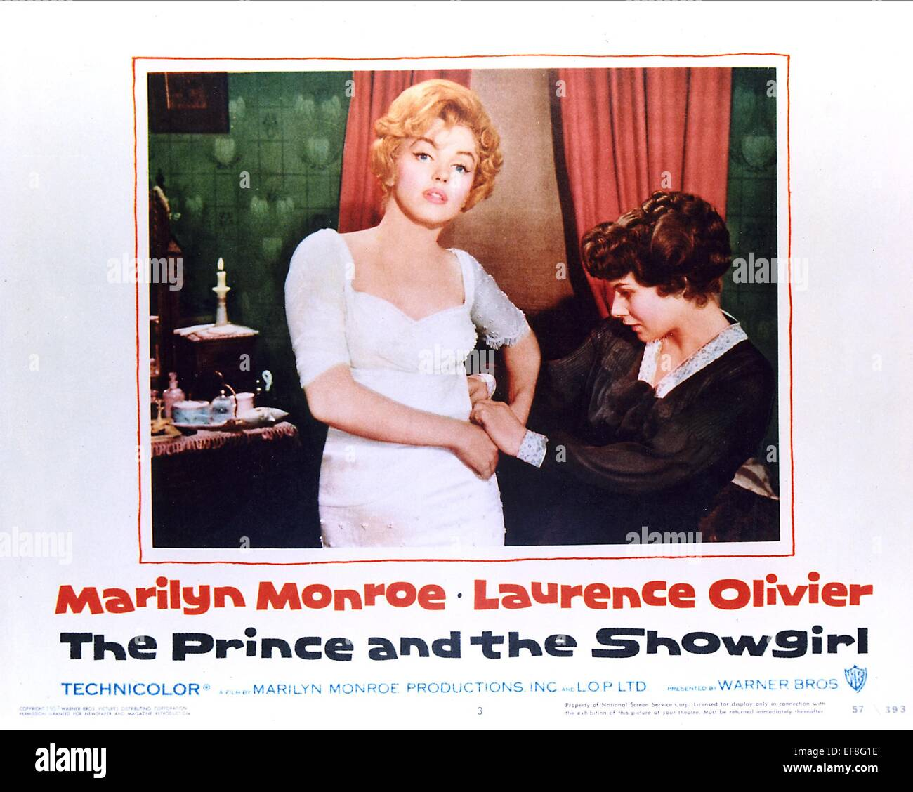 Marilyn Monroe Poster Marilyn Monroe Poster The Prince And The Showgirl 1957 Stock