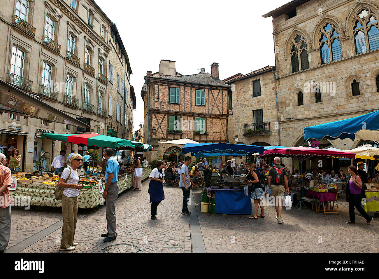 Location Figeac Market In Figeac France Stock Photo 78579827 Alamy