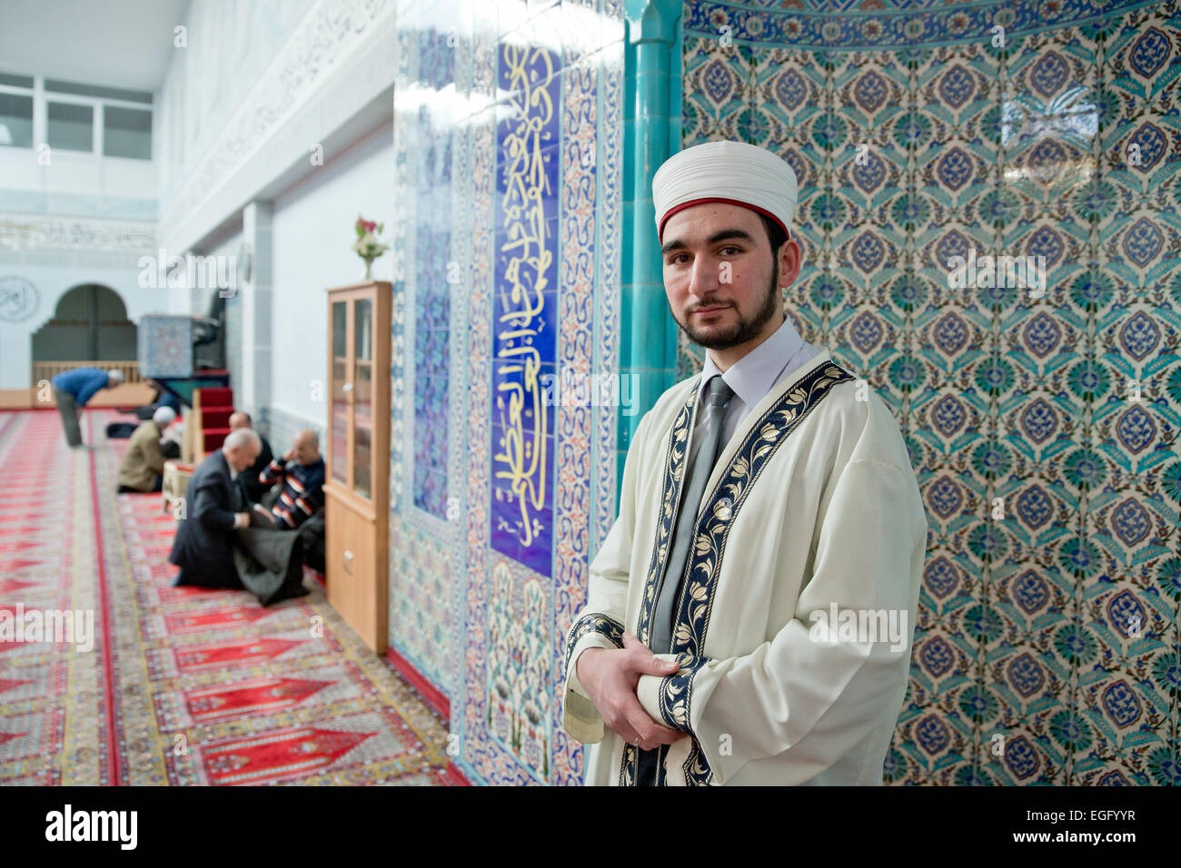 Nuremberg Germany 06th Feb 2015 Imam Talha Dogan Stands In The Stock Photo Alamy