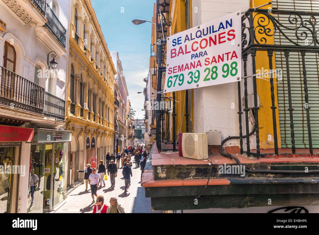 Sevilla Winkelen Seville Spain Sevilla Sign Balcony For Rent In The Run Up