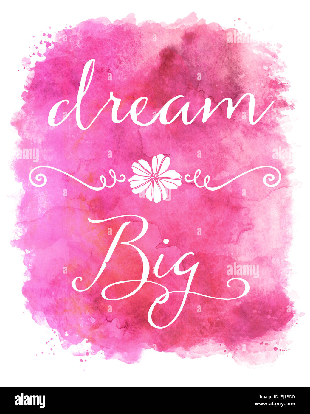 Motivational Quotes Wallpaper For Mobile Dream Big Pink Watercolor Inspirational Quote Stock Photo